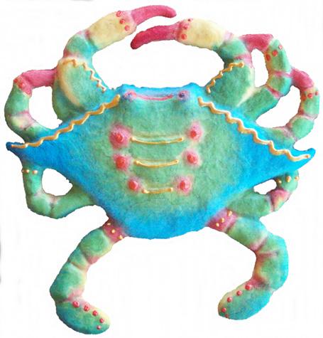 """Crab, Tropical Sun, 8 3⁄4""""L x 9""""H, $38.00"""