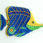 """Long Nose Butterfly Fish, caribbean brights, 10 3⁄4""""L x 7""""H"""