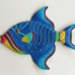 """Trigger Fish, caribbean brights, 12""""L x 9 1⁄2"""" H"""