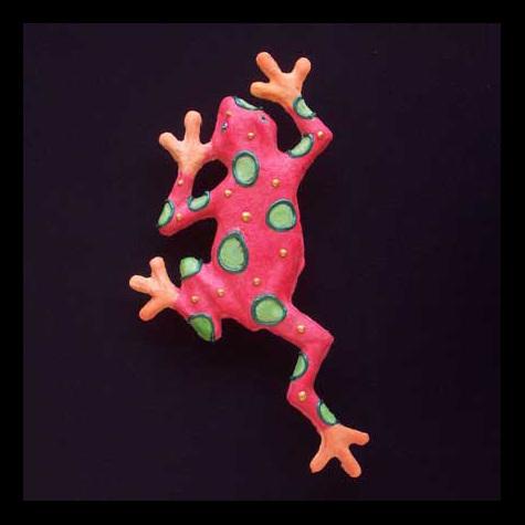 "Climbing Frog, Nature's Pallet, (orange), 6.5""W x 12.25""H, $30.00"