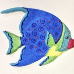 "Grey Angelfish, Caribbean Brights 10""L x 9""H"